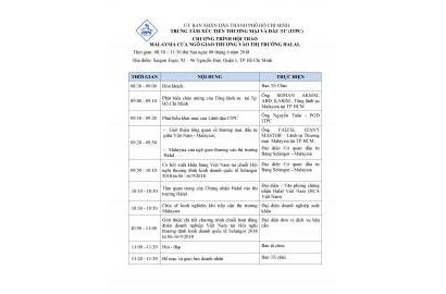 Sự kiện sắp diễn ra: Hội thảo Thị trường Malaysia - Giới thiệu Hội nghị thượng đỉnh Selangor 2018
